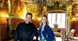 Brindisi Ferrari per le nozze di Filippa Lagerback e Daniele Bossari. La coppiaha scelto le bollicine delle Tenute Lunelli.